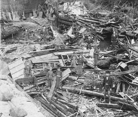 The great October, 1891, earthquake in Gifu and Ogaki-Mino-Owari earthquake!
