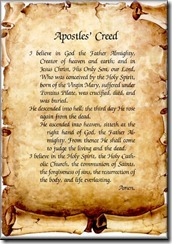 The Apostles' Creed!