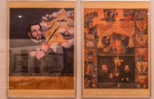 "L: Portrait of St. Francis Xavier, owned by the Higashi Family and on display at Kobe Municipal Museum. Found together with the ""Fifteen Mysteries of Mary"" in the ""unopened Chest"" handed down from generation to generation in the Higashi family. The portrait was made by an artist of the Kano school around 1623. R: ""Fifteen Mysteries of Mary"" painted on Japanese paper, the picture describes the life of the Holy Mother Mary in three parts with five scenes arranged clockwise. The left column describes the mysteries of Joy, the top line those of Suffering and the right column Glory. In the lower fore grounds are portraits of Ignatius Loyola, founder of the Jesuit order, left and Francis Xavier."